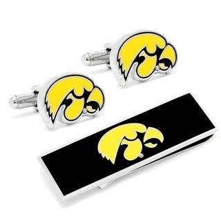 University of Iowa Hawkeyes Cufflinks and Money Clip Gift Set - Yellow