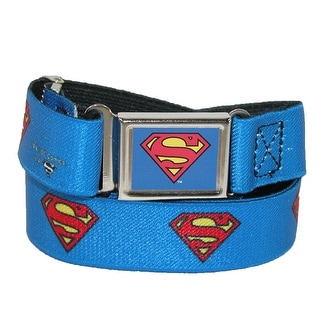 Buckle Down Kids' Magnetic Buckle DC Comics Superman Stretch Belt - Blue - One Size
