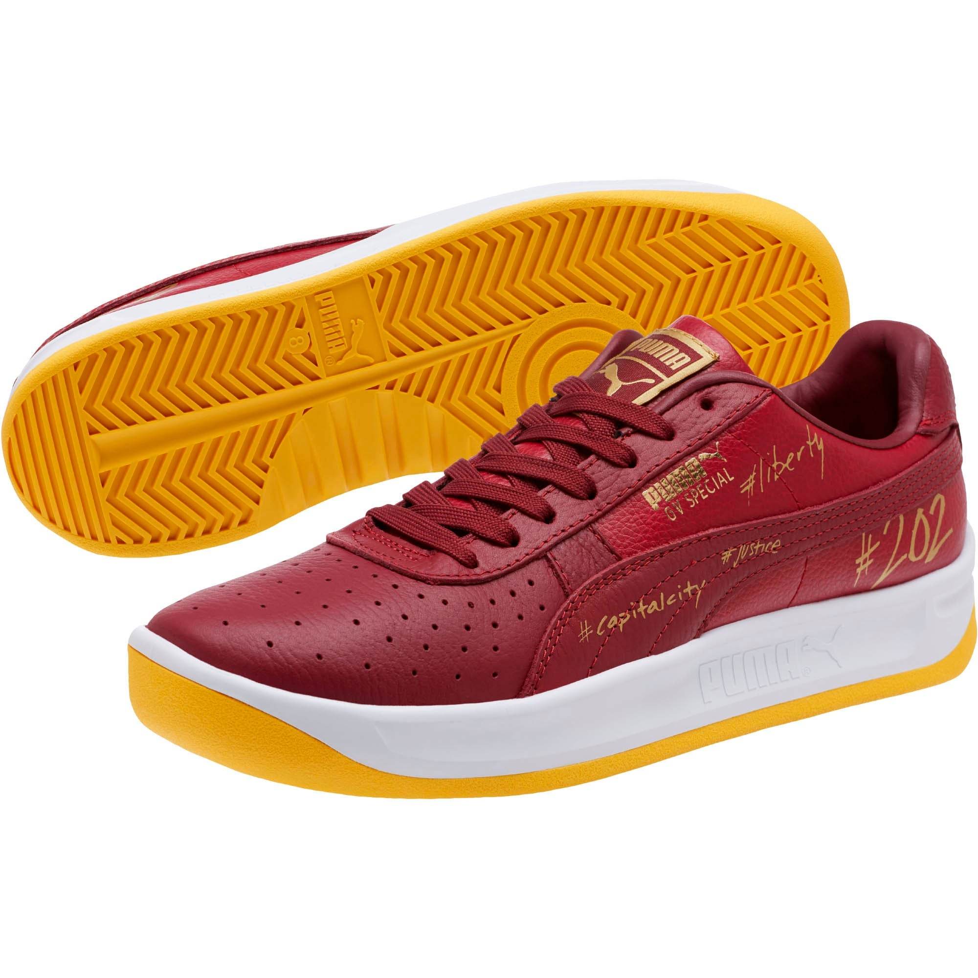 Puma Mens gv special wdc Leather Low Top Lace Up Fashion Sneakers 10.5