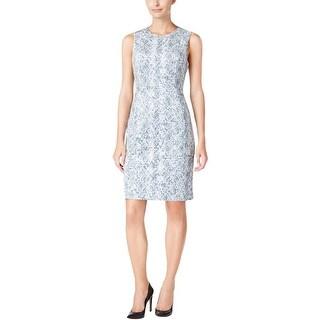 Calvin Klein Womens Casual Dress Animal Print Sleeveless