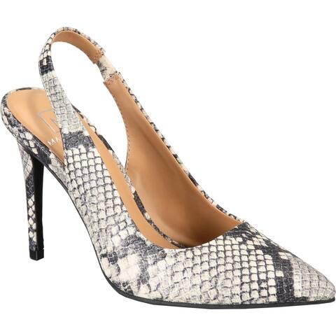 Material Girl Womens Darcie Slingback Heels Dress