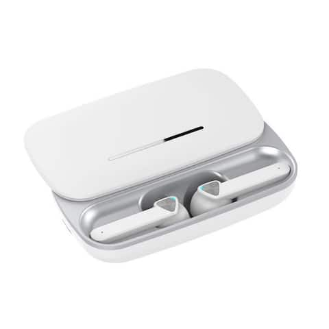 TWS Hi-Fi Stereo Wireless Headphone Earbuds with Microphone for Conference / Calls - Great Stocking Stuffer for Zoom Meetings