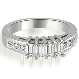 1.00 CT Channel Princess and Emerald Cut Diamond Wedding Band in 14KT