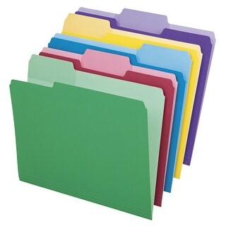 Pendaflex 1/3 Cut File Folder with Erasable Tabs, Assorted Colors