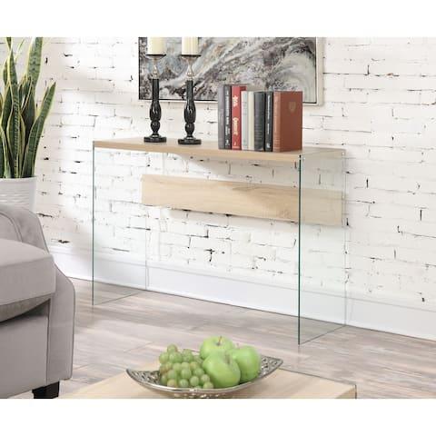 Porch & Den Urqhuart Glass Console Table/Desk
