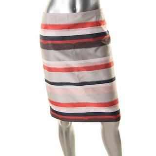 BOSS Hugo Boss Womens Textured Striped Pencil Skirt - 4