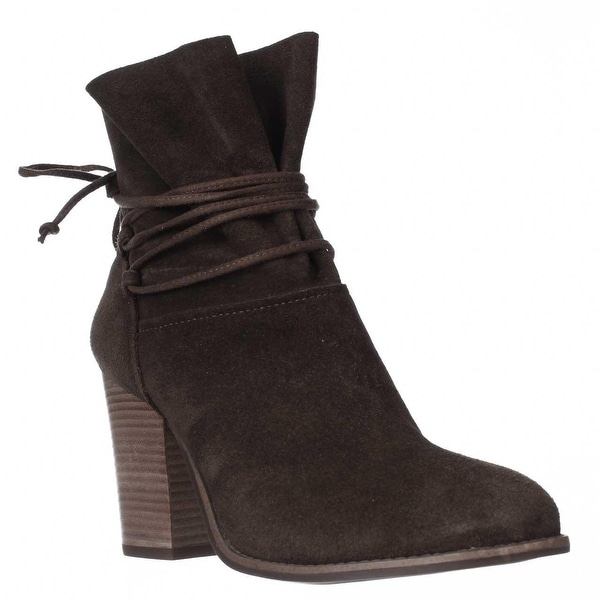 Jessica Simpson Satu Ankle Tie Slouch Ankle Boots, Moss Brown