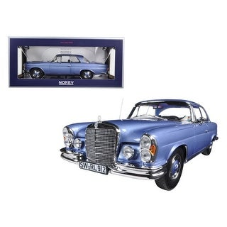 1969 Mercedes 280 SE Coupe Light Blue Metallic 1/18 Diecast Model Car by Norev