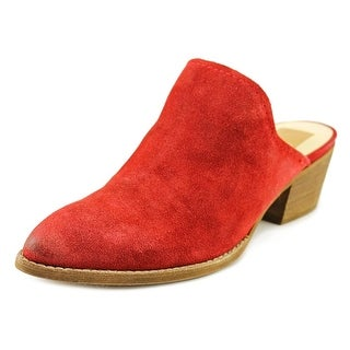 Dolce Vita Shyann Women Pointed Toe Suede Red Mules