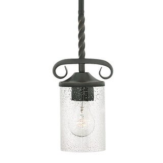 "Hinkley Lighting 4017OL-CL Casa Single Light 5-1/4"" Wide Mini Pendant with Seedy Glass Shade"