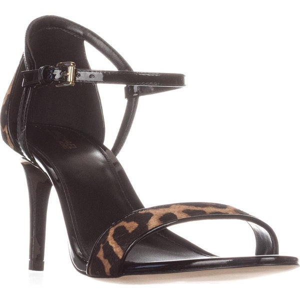 MICHAEL Michael Kors Simone Mid Sandal Ankle Strap Sandals, Natural/Black