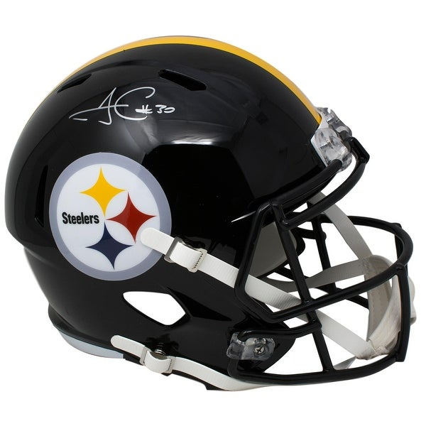 26f43e1670d James Conner Signed Pittsburgh Steelers Full Size Speed Replica Helmet JSA