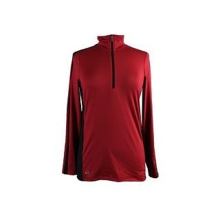 Lauren Ralph Lauren Red Long-Sleeve Half-Zip Pullover M