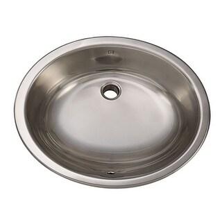 """DecoLav 1300-B 17"""" Self Rimming Stainless Steel Bathroom Sink"""