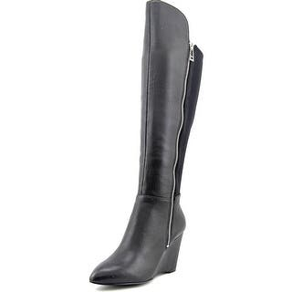 Charles By Charles David Ebony Women Pointed Toe Leather Black Knee High Boot|https://ak1.ostkcdn.com/images/products/is/images/direct/c6d93d61f23ff388af35c626c6ec932398499a83/Charles-By-Charles-David-Ebony-Round-Toe-Leather-Knee-High-Boot.jpg?impolicy=medium