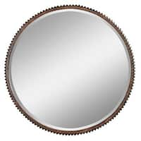 Aspire Home Accents 4868 Harrison Rustic Metal Wall Mirror - Brown