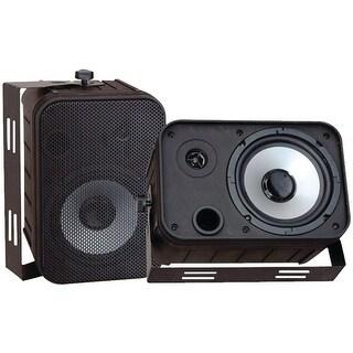 PYLE PRO PDWR50B 6.5'' Indoor/Outdoor Waterproof Speakers (Black)