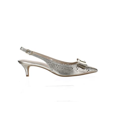 Cole Haan Womens Tali Bow Gold Slingbacks Size 7.5