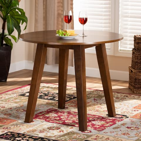 Ela Modern and Contemporary 35-Inch-Wide Round Dining Table