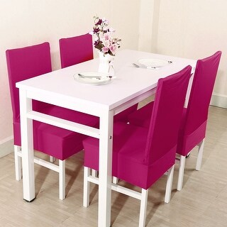 Unique Bargains Fuchsia Spandex Stretch Washable Dining Chair Cover