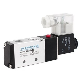 DC 24V 2 Position 5 Way Neutral Electric Solenoid Air Control Valve 4V210-08