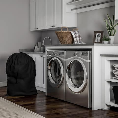 Heavy Duty Laundry Bag-Jumbo Tear Resistant Nylon Hamper Liner with Drawstring for Dorms, Apartments, Storage or Travel