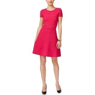MICHAEL Michael Kors Womens Wear to Work Dress Ribbed Laser Cut
