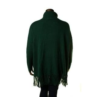 Lauren Ralph Lauren Womens Wool Fringe Turtleneck Sweater - XL