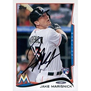 Signed Marisnick Jake Miami Marlins 2014 Topps Baseball Card autographed