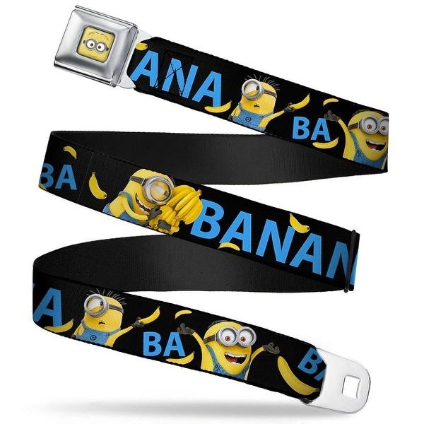 Minion Dave Face Close Up Full Color Minions Ba Ba Banana Black Blue Yellow Seatbelt Belt