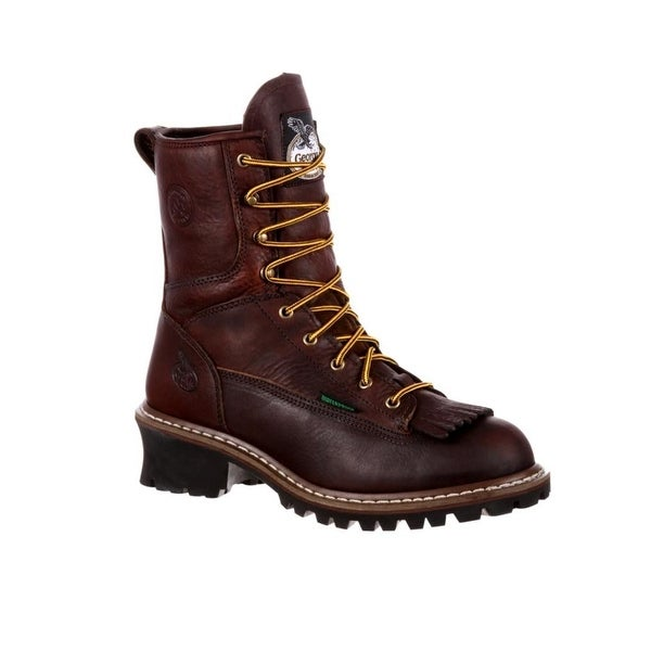 "Georgia Boot Work Mens Logger 8"" Insulated Round Toe"