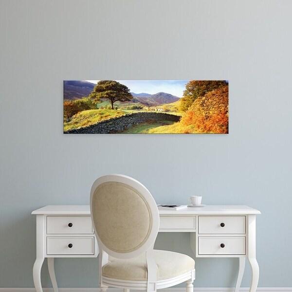 Easy Art Prints Panoramic Images's 'Lake District, United Kingdom' Premium Canvas Art