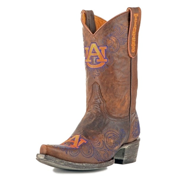Gameday Boots Womens College Auburn Tigers Brass Purple