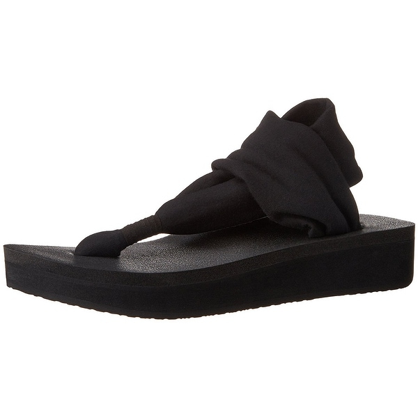 Sanuk Womens Yoga 2 Sling Split Toe Casual Platform Sandals