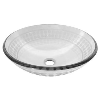 "Miseno MNO-851 Circular 16-1/2"" Tempered Glass Vessel Bathroom Sink"