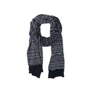 """Muk Luks Scarf Mens Pattern Fleece Lined Trendy Cozy 59"""""""