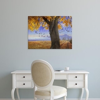 Easy Art Prints Chris Vest's 'Yellow Cottonwood' Premium Canvas Art