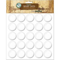 "Bottle Cap Inc Vintage Epoxy Dots 1"" 50/Pkg"