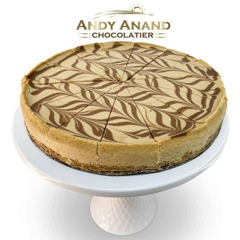 "Sugar Free Cappuccino Coffee Cheesecake 9"" 2 lbs with Greeting Card"