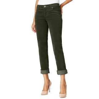 Kut From The Kloth NEW Green Women's Size 14 Boyfriend Corduroys Pants