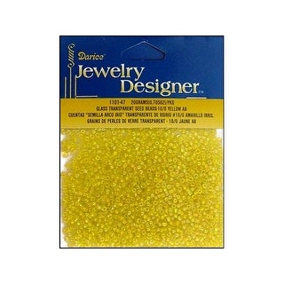 Darice JD Seed Bead 10/0 Transparent Yellow AB