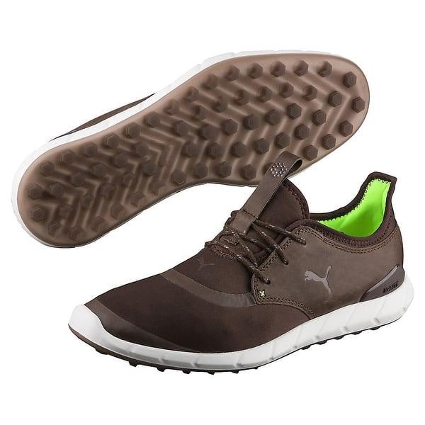 Shop Puma Men S Ignite Spikeless Sport Chestnut Green Gecko Golf Shoes 460023 04 Overstock 20347692