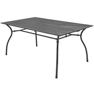 "vidaXL Outdoor Dining Table Steel Mesh 59""x35.4""x28.3"""