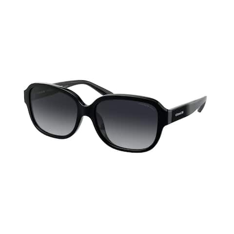 Coach HC8298U 5002T3 57 Black Woman Rectangle Sunglasses