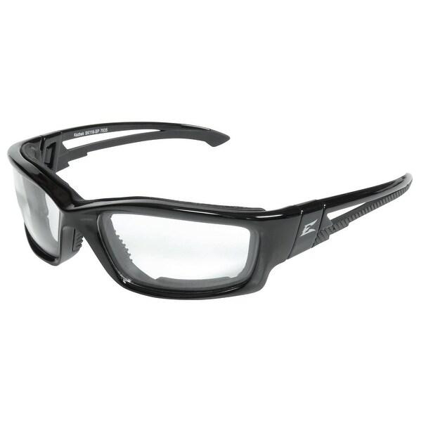 Edge Eyeware SK111-SP Kazbek Safety Glasses, Black Frame