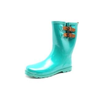Chooka Top Solid Mid Women Round Toe Synthetic Green Rain Boot