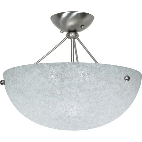 "Nuvo Lighting 60/132 South Beach 3 Light 15-1/2"" Wide Semi-Flush Bowl Ceiling Fixture"
