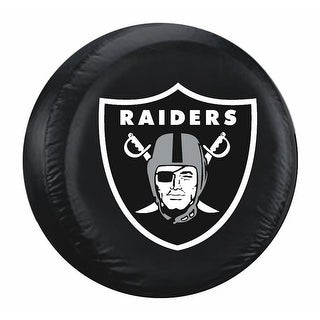 Oakland Raiders Tire Cover Large Size Black