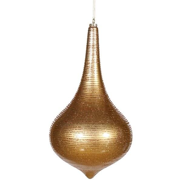 """16"""" Antique Gold Matte-Glitt Onion Drop"""