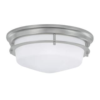 """Norwell Lighting 5632 Galley 2 Light 12"""" Wide Flush Mount Ceiling Fixture with Matte Opal Shades"""